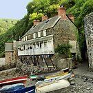 Fishermans Cottages, Clovelly by saxonfenken