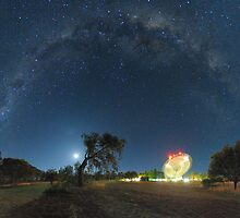 Milky Way Arch Above The Dish by Alex Cherney
