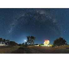 Milky Way Arch Above The Dish Photographic Print