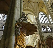 Interior Amiens Cathedral, France by buttonpresser