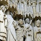 Statues, exterior, Amiens cathedral, France by buttonpresser