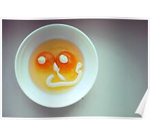 smiling eggs face Poster