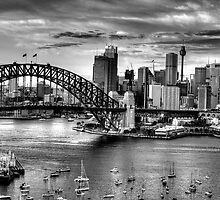 It's All Black & White - Sydney harbour, Sydney Australia (20 Exposure HDR Pano) - The HDR Experience by Philip Johnson
