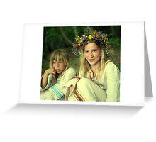 smile two Ukrainian girls Greeting Card