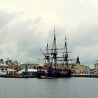 The East Indiaman &quot;Gtheborg&quot; in Gothenburg Harbour by HELUA