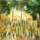 Color in the Forest-Watercolor painting by Esperanza Gallego