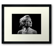 Portrait with one light! Framed Print