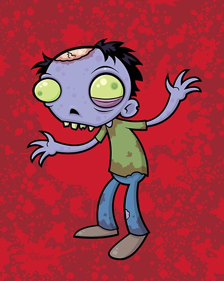 Cartoon Zombie by fizzgig