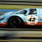 Porsche 917 at Le Mans by Paul Woloschuk