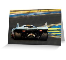 Porsche 917 into Tertre Rouge at Le Mans Greeting Card