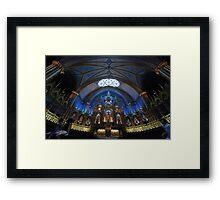 La Basilique Notre - Dame de Montreal Framed Print