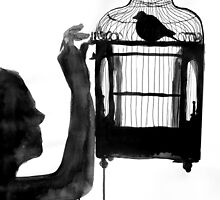 bird feeder by Loui  Jover