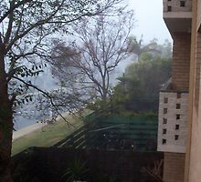 Flats In Fog, Claremont by robertemerald