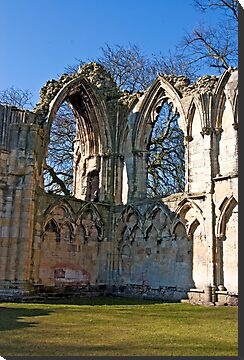 Ruins of St Mary's Abbey  -  York #5 by Trevor Kersley