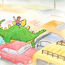 Traffic Jam with a Stegosaurus by Tim Gorichanaz