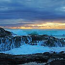 Currumbin Rocks - a stormy sunrise by Keiran Lusk