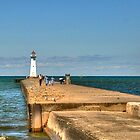 Sodus Point Outer Lighthouse by Monte Morton