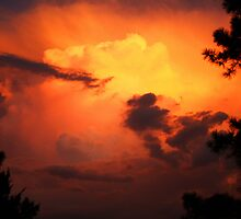 Clouds after the Storm at Sundown by Susan Blevins