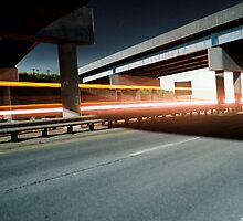 Truck passing under the highway by agenttomcat