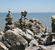 Rock Sculptures to the Lake Gods -1 by John Carpenter