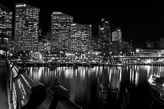 Looking Into a Black and White Sydney (best viewed LARGE) by Jen Waltmon