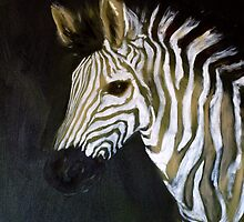 zebra by sunset