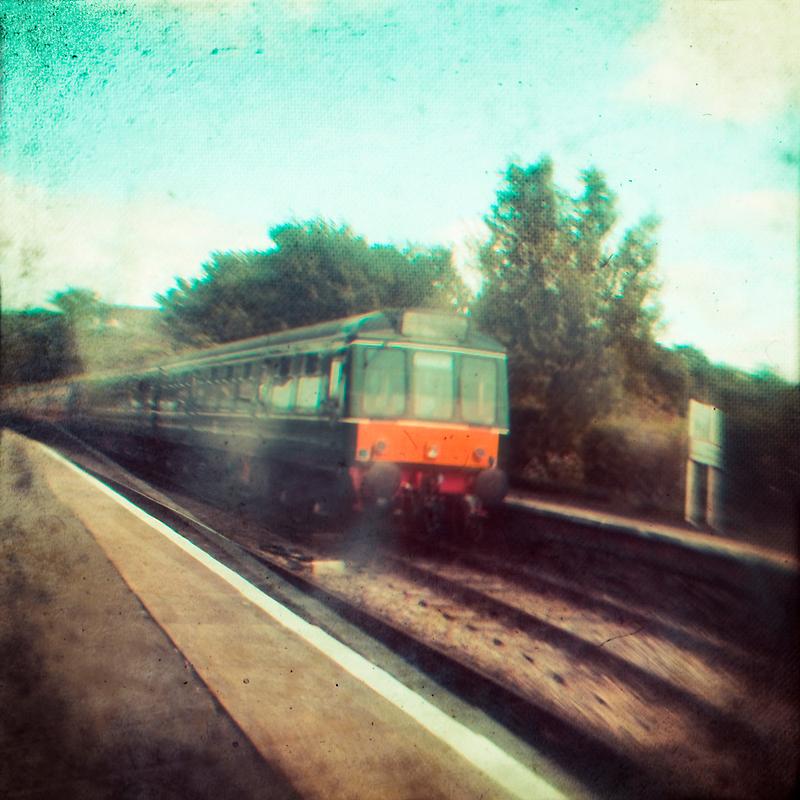 Vintage Train by Sharonroseart