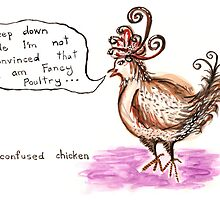 confused chicken by Soxy Fleming