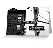 Bleecker Street, NYC Greeting Card