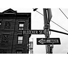 Bleecker Street, NYC Photographic Print