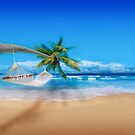 Palm tree on Exotic Beach by Nasko .