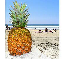Homesick Pineapple On The Beach Photographic Print