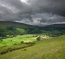 Looking Across Buckden To Langstrothdale by SteveMG