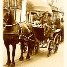 Postcard vintage horse carriage event Kampen 2010 by patjila