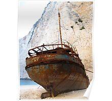 Rustic Shipwreck  Poster