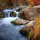 Autumn Cascade by David Kocherhans