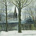 church in winter by stormloop