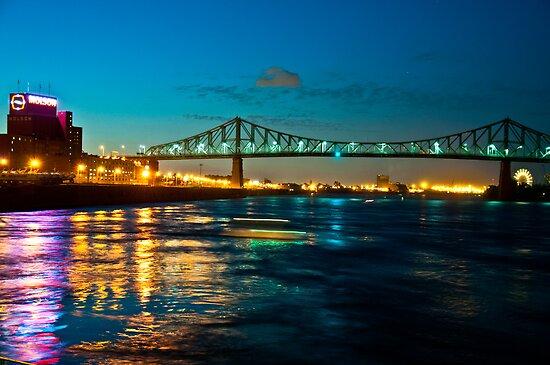 Jacques Cartier Bridge by Wanda Dumas