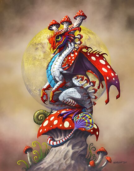 MUSHROOM DRAGON by SMorrisonArt