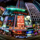 Fisheye on Broadway by Randy  Le'Moine