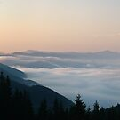 Morning above cloudscape by Oleksiy Rybakov