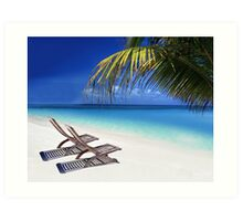 Relax at the Beach  Art Print
