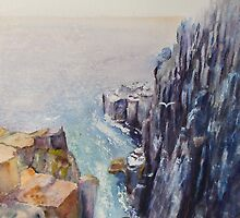 On the edge of the cliff by Beatrice Cloake Pasquier