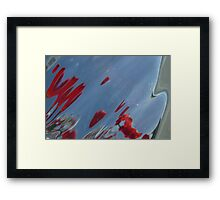 Tulips, Dorothy, Abstract Photography, Raw Image, Refraction through glass Framed Print