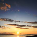 River Dee Estuary Sunset by Shinobu
