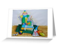 Still Life with Clown Greeting Card
