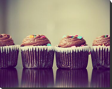 Cupcakes Lined Up by ameliakayphotog