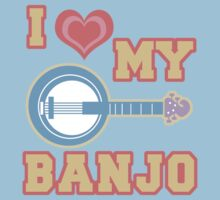 I Love My Banjo by evisionarts