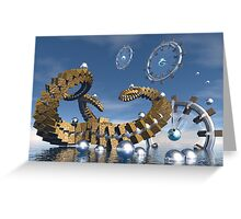Time chasers  Greeting Card