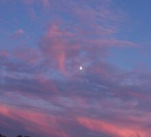 8/31/09 Long Island NY Moon in Sunset by Lisa Marie  Vigilo